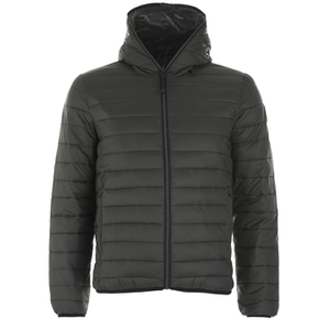 REPLAY Men's Padded Zipped Jacket - Dark Warm Grey