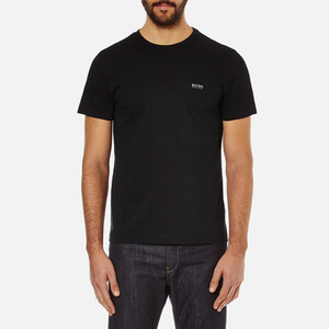 BOSS Green Men's Small Logo T-Shirt - Black