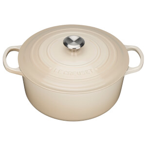 Le Creuset Signature Cast Iron Round Casserole Dish 20cm - Almond