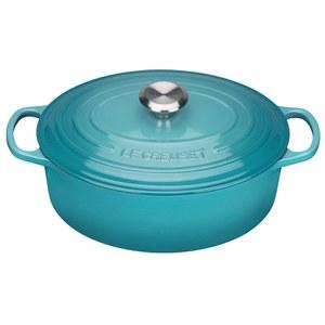 Le Creuset Signature Cast Iron Oval Casserole Dish - Teal