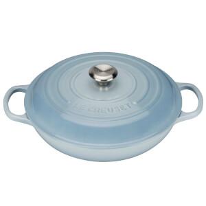 Le Creuset Signature Cast Iron Shallow Casserole Dish 26cm - Coastal Blue