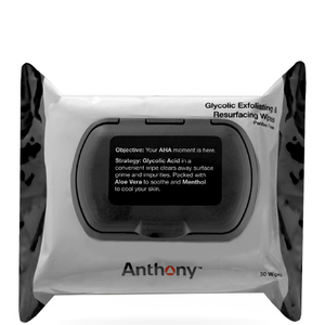 Anthony Glycolic Exfoliating and Resurfacing Wipes -puhdistuspyyhkeet