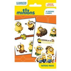 Planche de Tatouages Minions - Assortiment 2