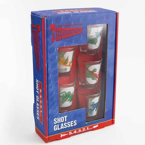 Thunderbirds Shot Glasses