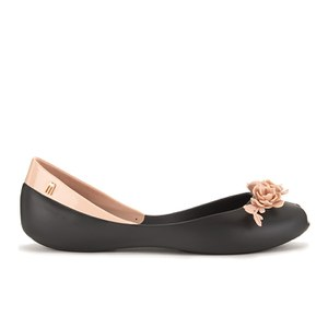 Alexandre Herchcovitch for Melissa Women's Flower Queen Ballet Flats - Black Contrast
