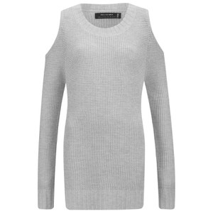 Religion Women's Perilous Cold Shoulder Jumper - Grey