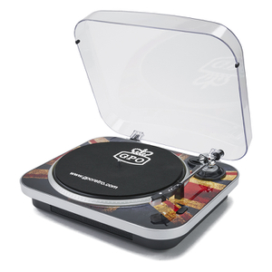 GPO Retro Jam 3-Speed Stand Alone Vinyl Turntable with Built-In Speakers - Union Jack