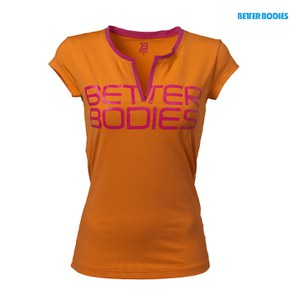 Better Bodies Women's V-Neck T-Shirt - Bright Orange