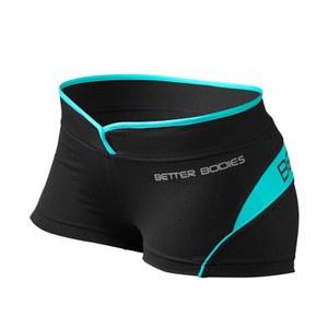 Better Bodies Women's Shaped Hot Pants - Black/Aqua