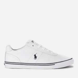 buy online d950f d81d7 Polo Ralph Lauren Men s Hanford Leather Trainers - White   FREE UK Delivery    Allsole