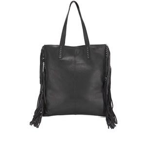 BeckSöndergaard Women's Lafayette Fringed Tote Bag - Black