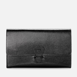 Aspinal of London Travel Classic Wallet - Black Lizard