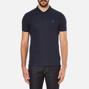J.Lindeberg Men's Rubi Short Sleeve Polo Shirt - Navy