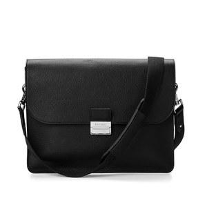 Aspinal of London Combination Lock Messenger Bag - Black