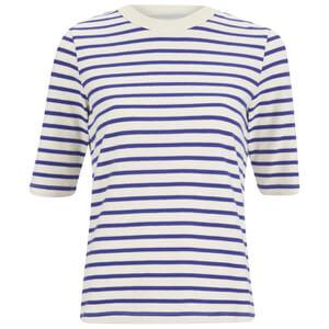Wood Wood Women's Adda Stripe T-Shirt - Navy Stripe