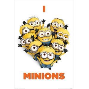 Despicable Me I Love Minions - 24 x 36 Inches Maxi Poster