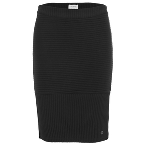 nümph Womens Ribbed Pencil Skirt - Caviar