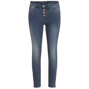 nümph Womens Florida Zip Jeans - Blue