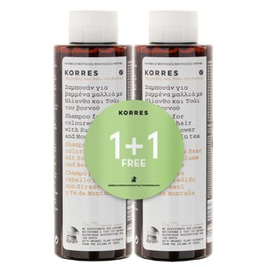 Korres Sunflower and Mountain Tea Shampoo 1 + 1 (im Wert von 20 GBP)