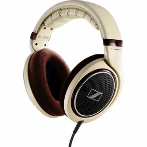 Sennheiser HD 598 Over Ear Headphones - Cream/Brown