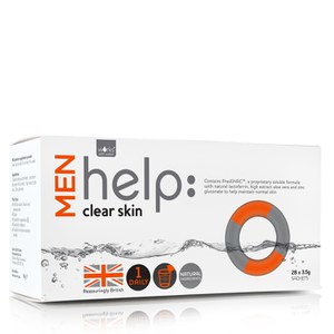 Suplemento soluble para la piel masculina Help: Clear Skin de Works with Water (28 x 3,5 g)