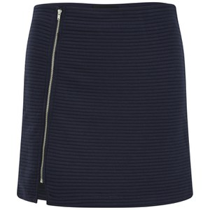 MINKPINK Women's Take Care Rib Skirt - Navy