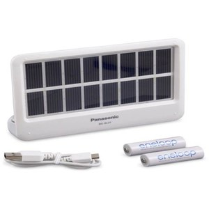 Panasonic BG-BL0AA Solar Charging Portable Power Bank for Mobile Devices - White