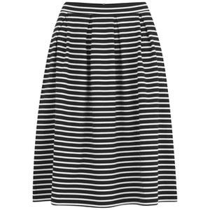 VILA Women's Jaeger Stripe Midi Skirt - Black