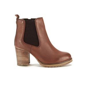 Ravel Women's Newark Leather Heeled Chelsea Boots - Tan