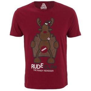 Xplicit Men's Randy Reindeer Christmas T-Shirt - Blood Red