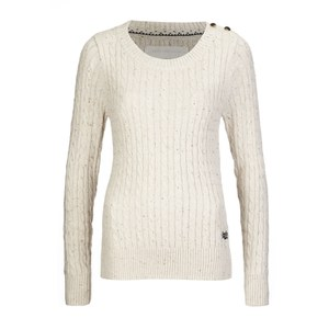 Superdry Women's New Croyde Cable Crew Neck Jumper - Winter Marl