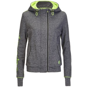Superdry Women's Gym Running Zip Hoody - Charcoal Grit