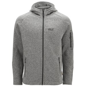 Jack Wolfskin Men's Caribou Lodge Fleece Jacket - Light Grey