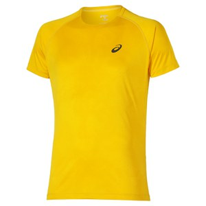 Asics Men's FujiTrail Graphic Running T-Shirt - Spectra Yellow Map