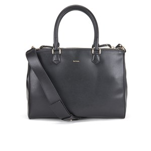 Paul Smith Accessories Women's Leather Large Double Zip Tote - Black