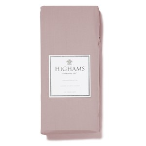 Highams 100% Egyptian Cotton Plain Dyed Deep Fitted Sheet - Pink
