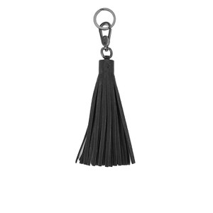 Yvonne Koné Women's Tassel Key Holder Black