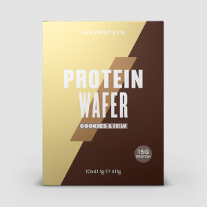 Myprotein Protein Wafers, Cookies & Cream, 10 x 40g