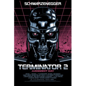 Terminator 2 Signalnoise Standard Zavvi Exclusive - 18 x 24 Inches Numbered Screen Print