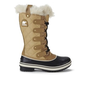 Sorel Women's Tofino Quilted Canvas Boots - Curry/Black