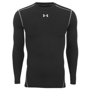 Under Armour Men's ColdGear Armour Compression Long Sleeve Crew Top - Black