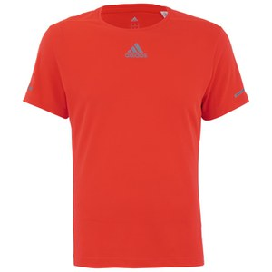 adidas Men's Sequencials Running T-Shirt - Red