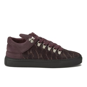 Filling Pieces Women's Pony Woven Mountain Cut Trainers - Burgundy