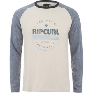 Rip Curl Men's Big Mama Raglan Long Sleeve Top - Breakage White