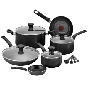 Tefal Excite 7 Piece Pan Set - Black
