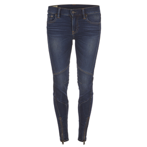 Polo Ralph Lauren Women's Moto Denim Jeans - Prospector Wash