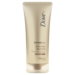 Dove DermaSpa Summer Revived Body Lotion Medium to Dark Skin (200ml)