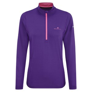 RonHill Women's Vizion Thermal 200 1/2 Zip Long Sleeve Top - Wildberry/Pink
