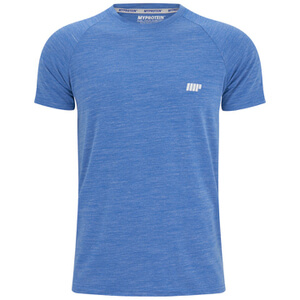 Myprotein Men's Performance Short Sleeve Top - Blue Marl (USA)