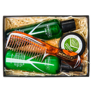 Men Rock Awakening Beard Care Kit - Beardy Beloved -parranhoitosarja (partashampoo, partapalsami, viiksivaha, partakampa)